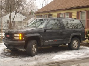Trucks and SUVs - typical workhorses of North America